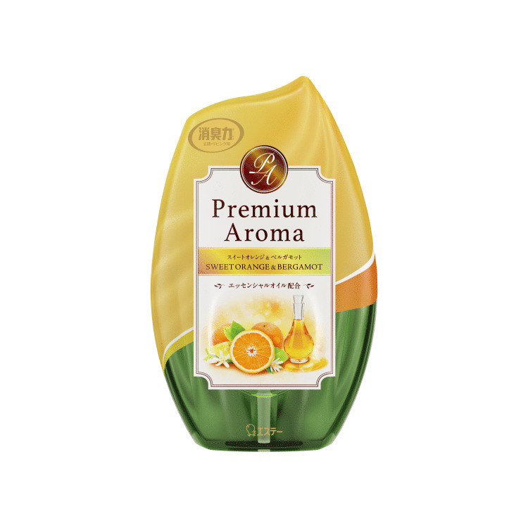 玄関・リビング用 消臭力 Premium Aroma(プレミアムアロマ) スイートオレンジ&ベルガモット