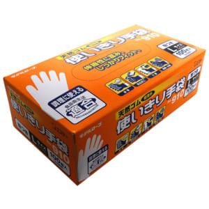 モデルローブ No.910 天然ゴム使いきり手袋(100枚・粉つき) L