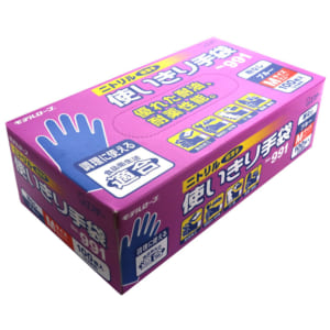 モデルローブ No.991 ニトリル使いきり手袋(100枚・粉なし) ブルー M