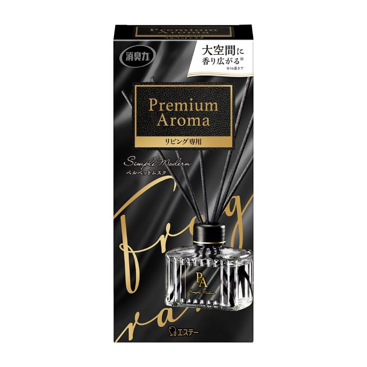 お部屋の消臭力 Premium Aroma Stick リビング専用 本体 ベルベットムスク