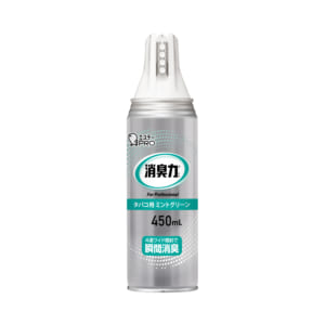 消臭力 業務用 ワイドスプレー 450mL タバコ用 ミントグリーン